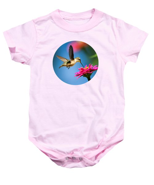 Art Of Hummingbird Flight Baby Onesie by Christina Rollo