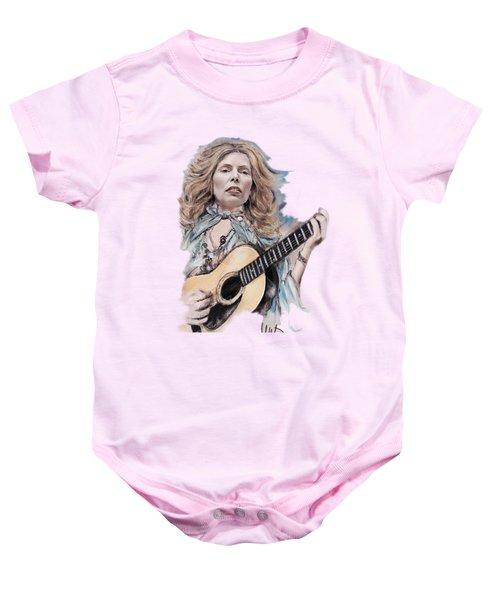 Joni Mitchell Baby Onesie by Melanie D