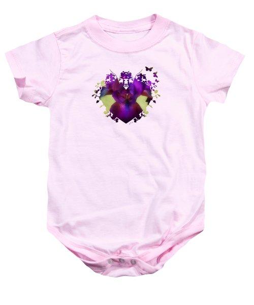 Deep Purple Baby Onesie by Anita Faye