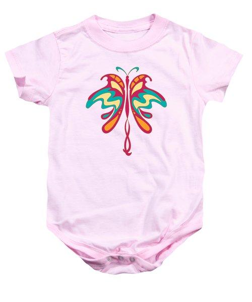 Colourful Art Nouveau Butterfly Baby Onesie by Heidi De Leeuw