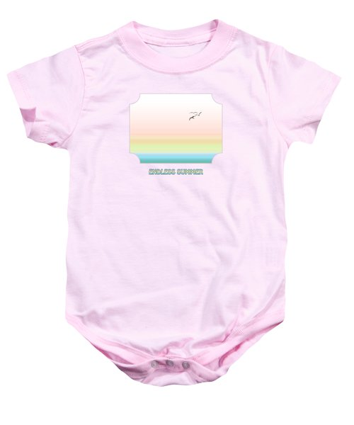 Endless Summer - Pink Baby Onesie by Gill Billington
