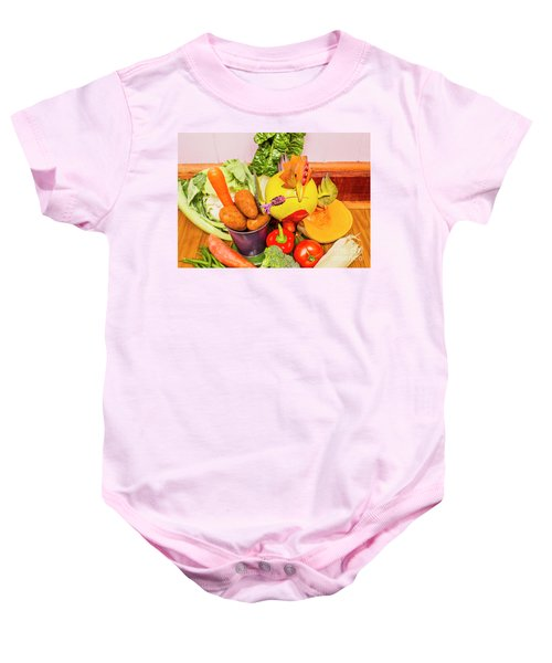 Farm Fresh Produce Baby Onesie by Jorgo Photography - Wall Art Gallery