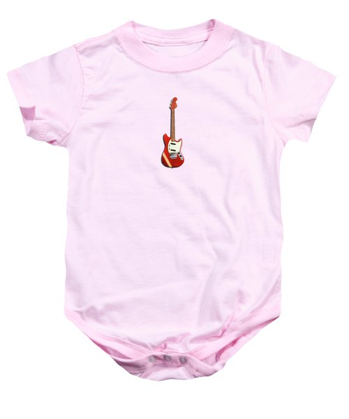 Fender Mustang 70 Baby Onesie by Mark Rogan