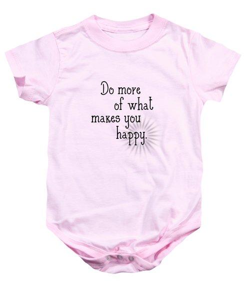 Text Art Happy Baby Onesie by Melanie Viola