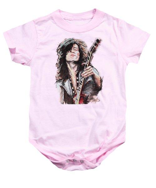 Jimmy Page Baby Onesie by Melanie D