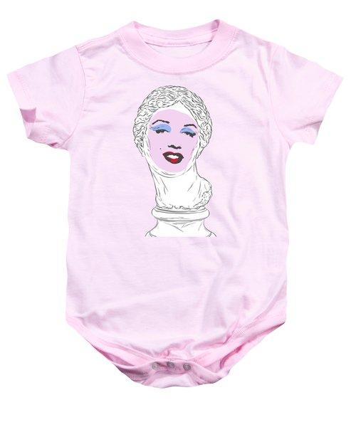 Marilyn Aphrodite Baby Onesie by Evgenia Chuvardina