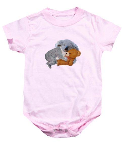 Naptime With Teddy Bear Baby Onesie by Glenn Holbrook