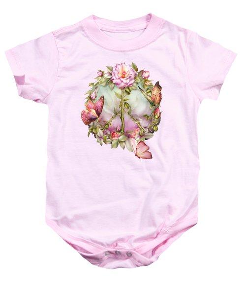 Peace Rose Baby Onesie by Carol Cavalaris