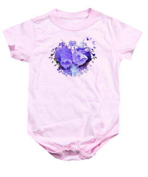 Pretty Purple Baby Onesie by Anita Faye