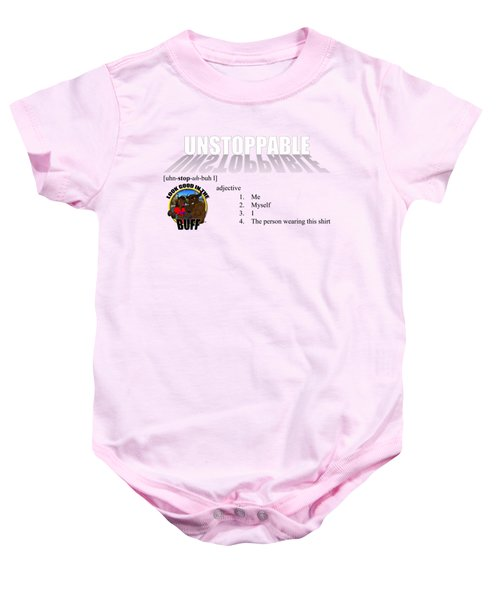 Unstoppable V1 Baby Onesie by Michael Frank Jr
