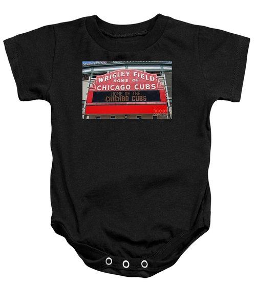 0334 Wrigley Field Baby Onesie by Steve Sturgill