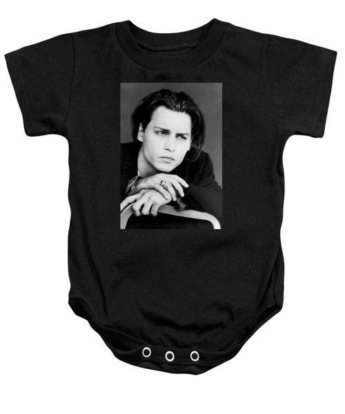 Johnny Depp Baby Onesie by Karon Melillo DeVega
