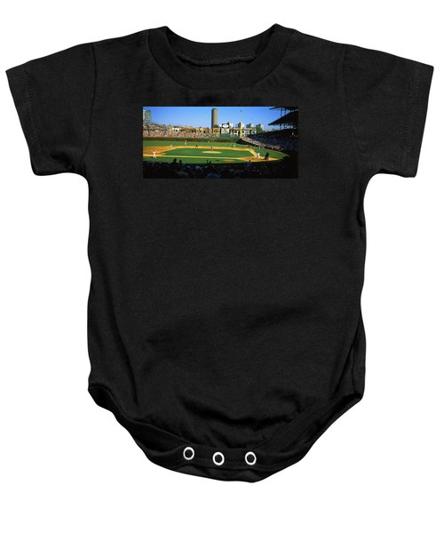 Spectators In A Stadium, Wrigley Field Baby Onesie by Panoramic Images