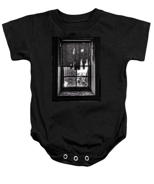 Abandoned Window Baby Onesie by H James Hoff