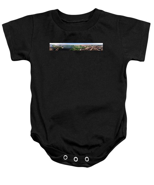 Aerial Washington Dc Usa Baby Onesie by Panoramic Images