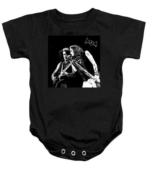 Aerosmith - Joe Perry & Steve Tyler Baby Onesie by Epic Rights
