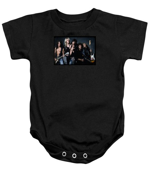 Aerosmith - Let The Music Do The Talking 1980s Baby Onesie by Epic Rights