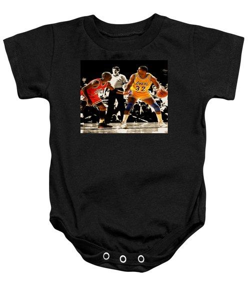 Air Jordan On Magic Baby Onesie by Brian Reaves