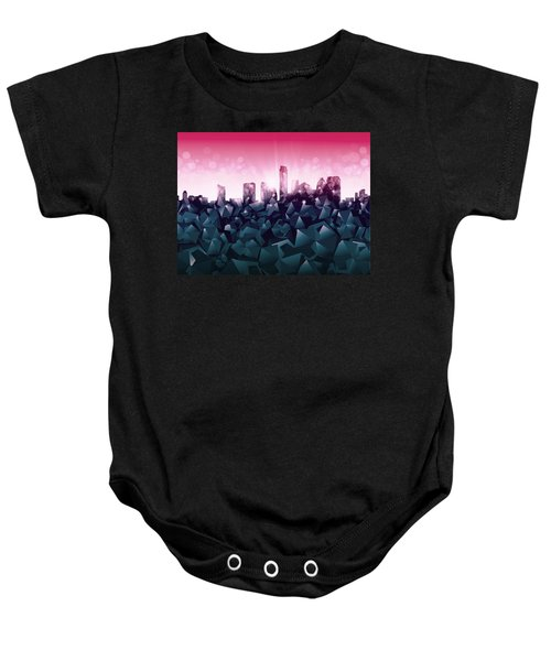 Austin Skyline Geometry 2 Baby Onesie by Bekim Art