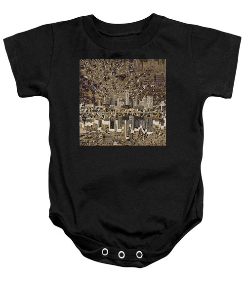 Austin Texas Skyline 5 Baby Onesie by Bekim Art