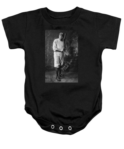 Babe 'the Sultan Of Swat' Ruth  1920 Baby Onesie by Daniel Hagerman