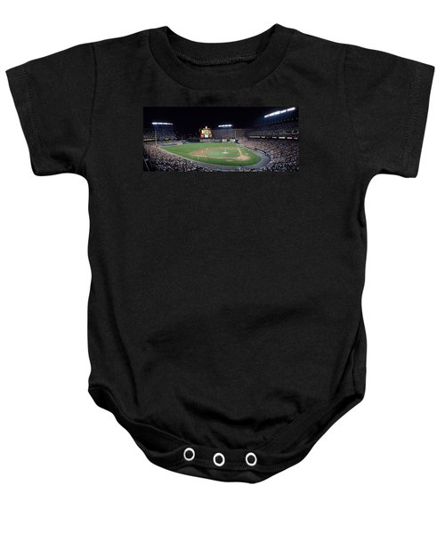 Baseball Game Camden Yards Baltimore Md Baby Onesie by Panoramic Images