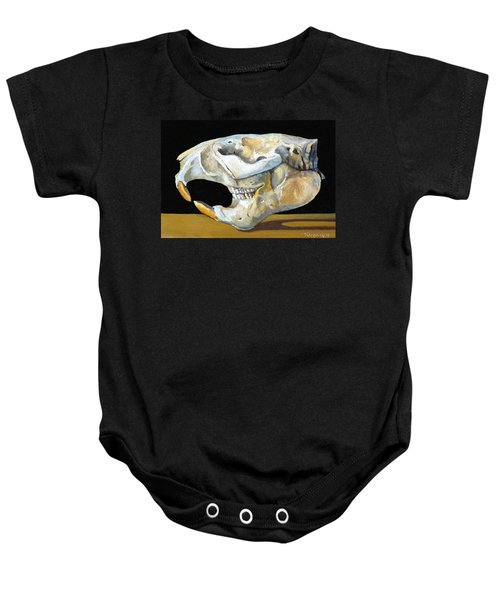 Beaver Skull 1 Baby Onesie by Catherine Twomey