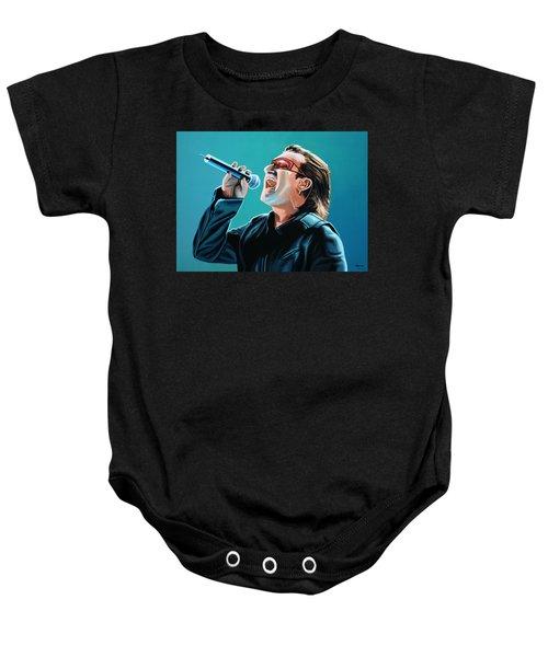 Bono Of U2 Painting Baby Onesie by Paul Meijering