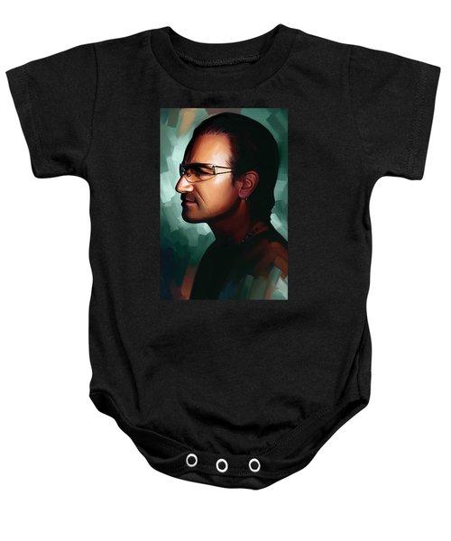 Bono U2 Artwork 1 Baby Onesie by Sheraz A