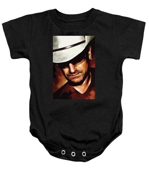 Bono U2 Artwork 3 Baby Onesie by Sheraz A