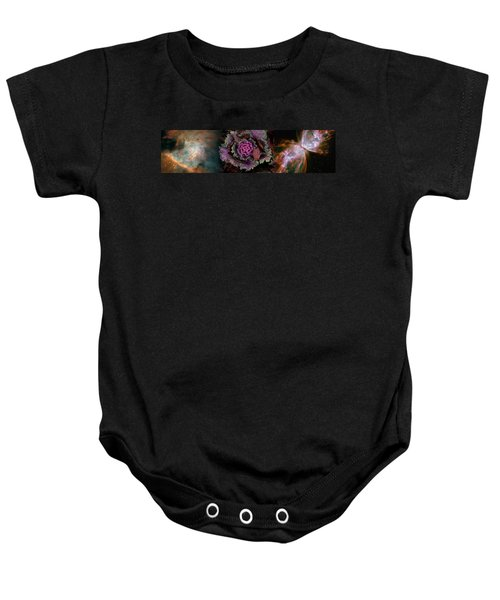 Cabbage With Butterfly Nebula Baby Onesie by Panoramic Images