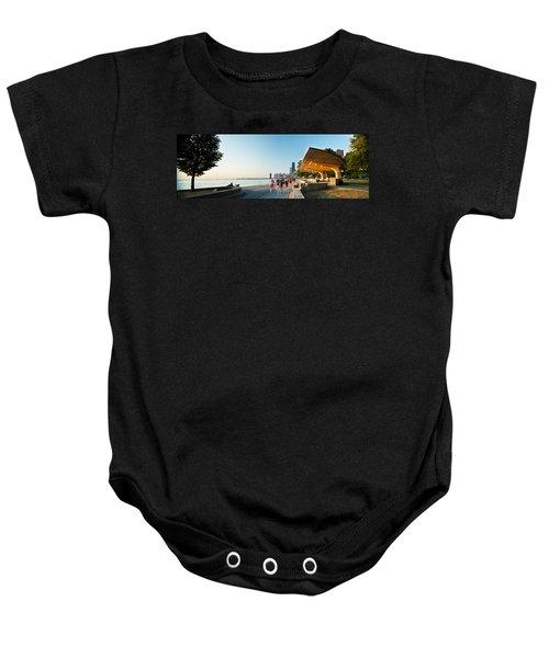 Chicago Lakefront Panorama Baby Onesie by Steve Gadomski