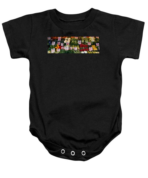 Close-up Of Pike Place Market, Seattle Baby Onesie by Panoramic Images