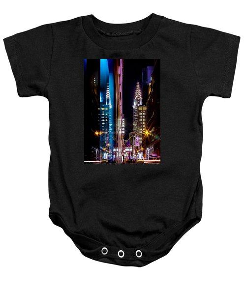 Color Of Manhattan Baby Onesie by Az Jackson