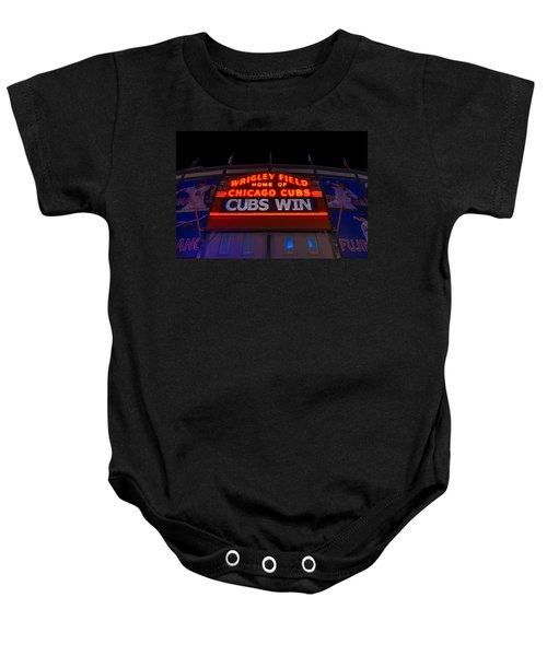 Cubs Win Baby Onesie by Steve Gadomski