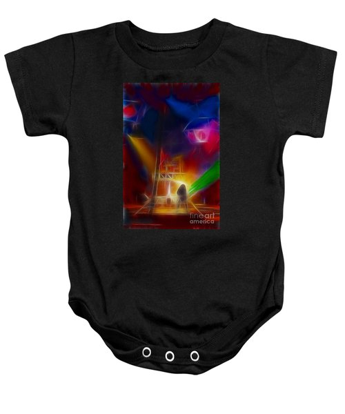 Def Leppard-adrenalize-gf10-fractal Baby Onesie by Gary Gingrich Galleries
