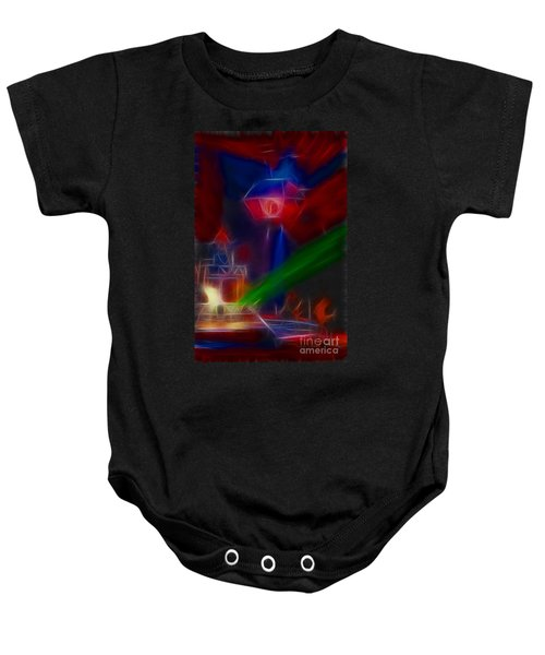 Def Leppard-adrenalize-gf12-fractal Baby Onesie by Gary Gingrich Galleries