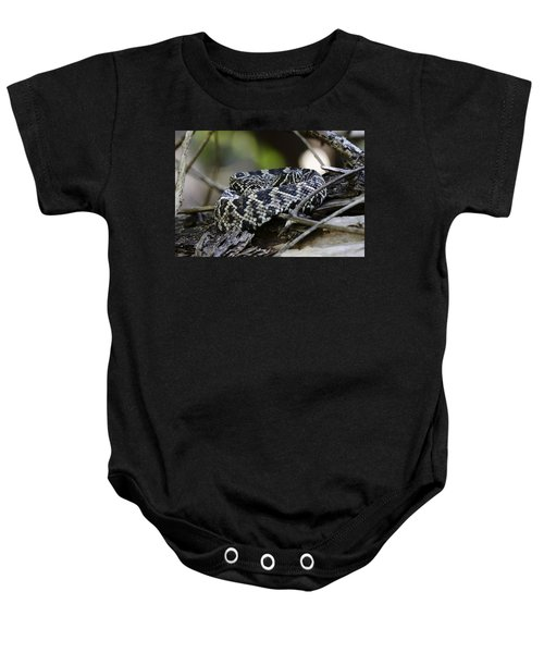 Eastern Diamondback-1 Baby Onesie by Rudy Umans