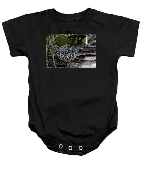 Eastern Diamondback-2 Baby Onesie by Rudy Umans