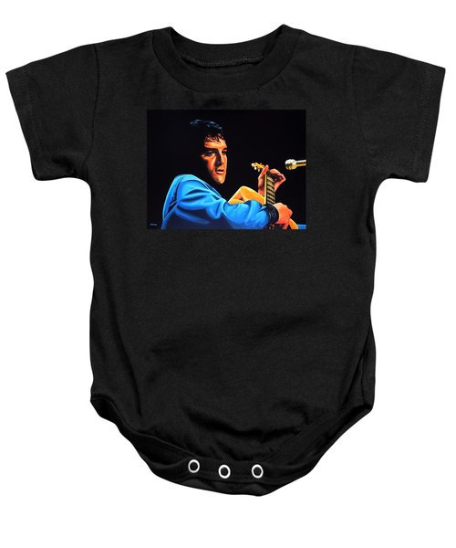 Elvis Presley 2 Painting Baby Onesie by Paul Meijering