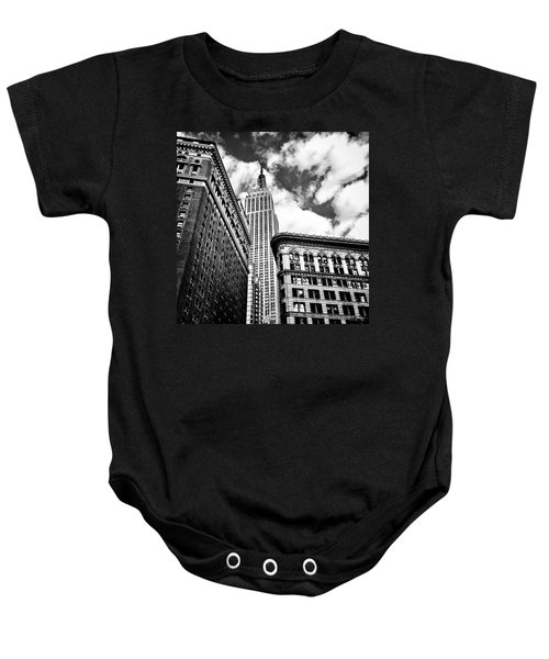 Empire State Building And New York City Skyline Baby Onesie by Vivienne Gucwa