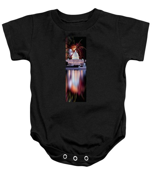 Firework Display Over A Government Baby Onesie by Panoramic Images