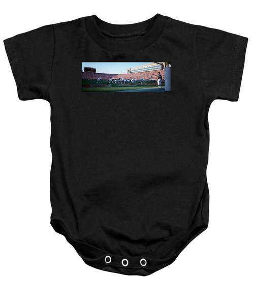 Football Game, Soldier Field, Chicago Baby Onesie by Panoramic Images