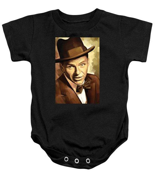 Frank Sinatra Artwork 2 Baby Onesie by Sheraz A