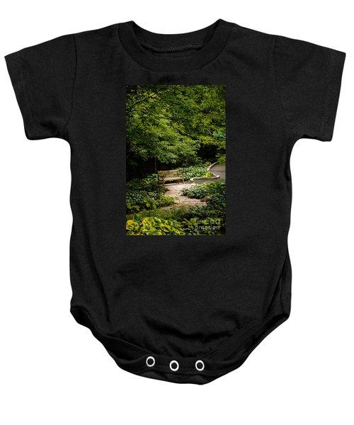 Garden Bench Baby Onesie by Joe Mamer