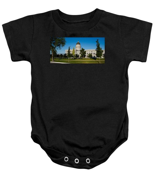 Garden In Front Of Utah State Capitol Baby Onesie by Panoramic Images