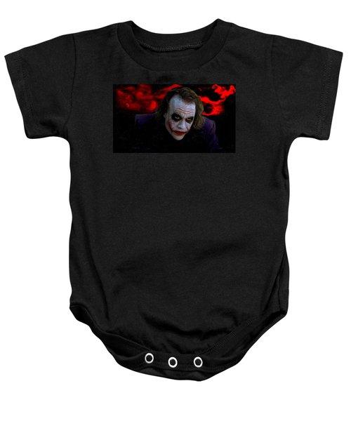 Heath Ledger As Joker Baby Onesie by Image World