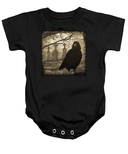 Her Graveyard Baby Onesie by Gothicrow Images
