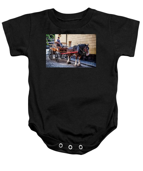 Horse And Cart Baby Onesie by Adrian Evans