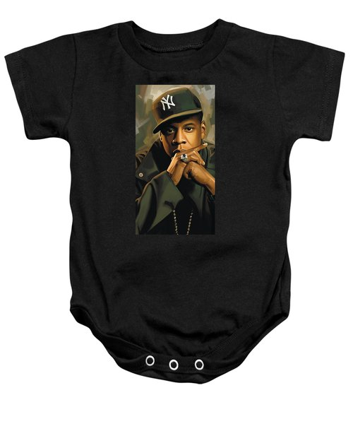 Jay-z Artwork 2 Baby Onesie by Sheraz A